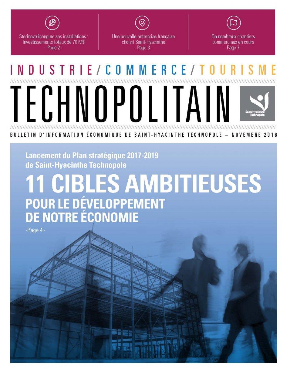 Le Technopolitain – Novembre 2016
