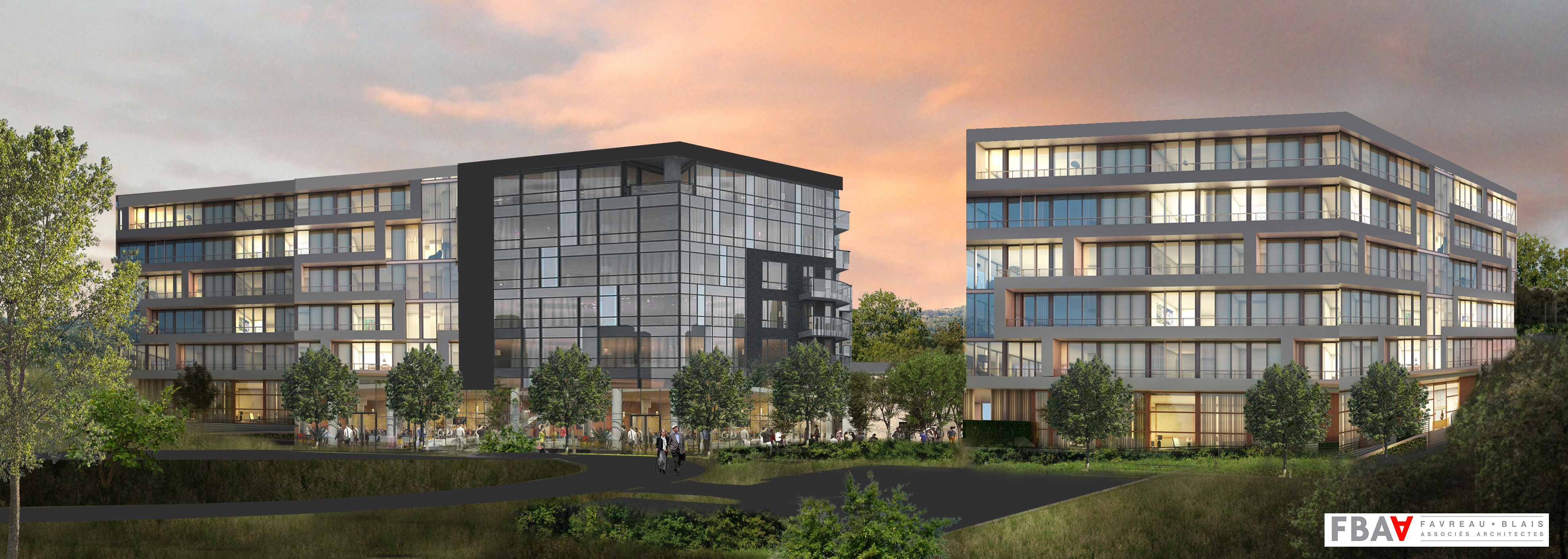 Construction d'un immeuble d'habitation avec locaux intégrés