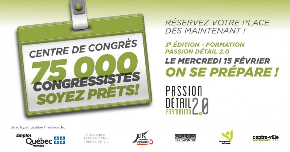 Colloque passion d tail 2017 le mercredi 15 f vrier on for Chambre de commerce st hyacinthe