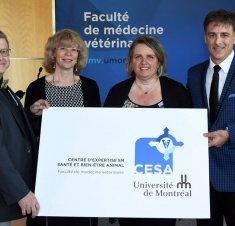 Inauguration du Centre d'expertise en santé et bien-être animal