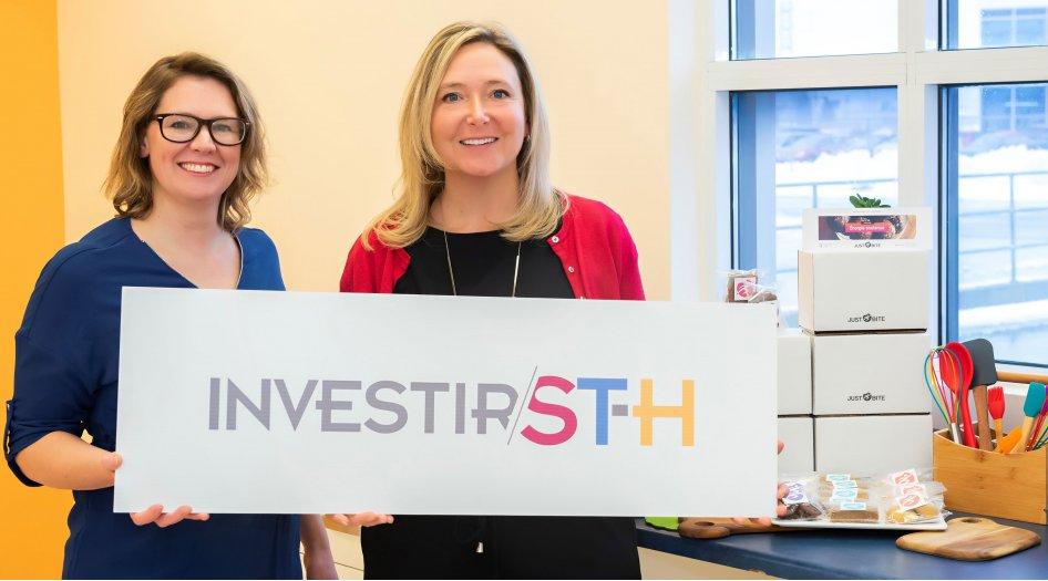 Accompagnée par Saint-Hyacinthe Technopole, Les collations JUST BITE remportent le concours de « pitch » pour entrepreneurs de l'événement Maskoutinc.