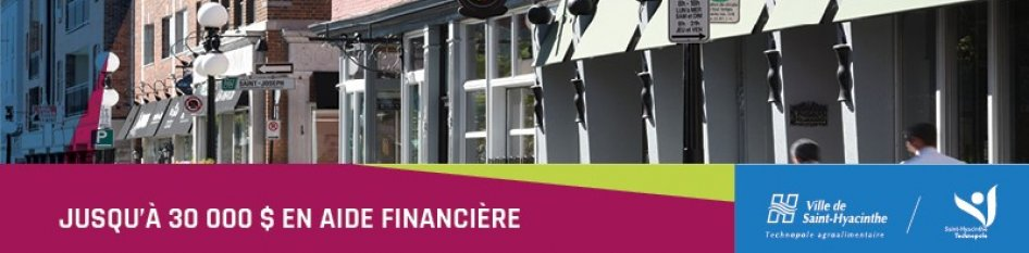 Programme d'aide à l'implantation de commerces au centre-ville de Saint-Hyacinthe