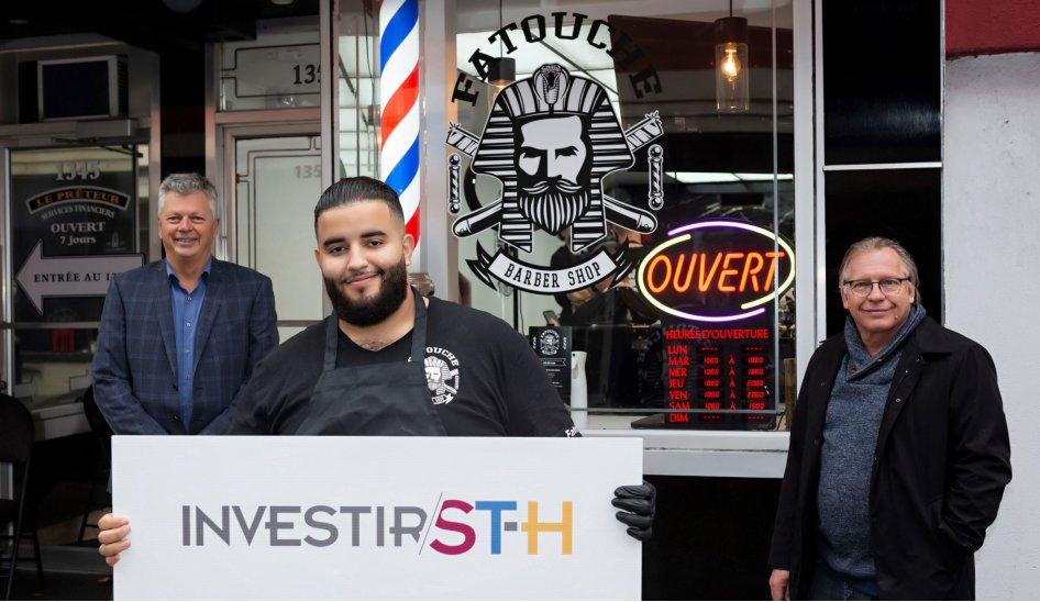 Fatouche Barber Shop ouvre ses portes avec le soutien du programme d'aide à l'implantation de commerces au centre-ville de Saint-Hyacinthe