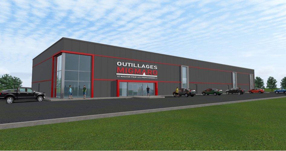 Investissement de 3 M$ pour la construction des nouvelles installations d'Outillages Migmaro à Saint-Hyacinthe