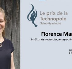 Saint-Hyacinthe Technopole remet le Prix de la Technopole à une étudiante de l'ITA