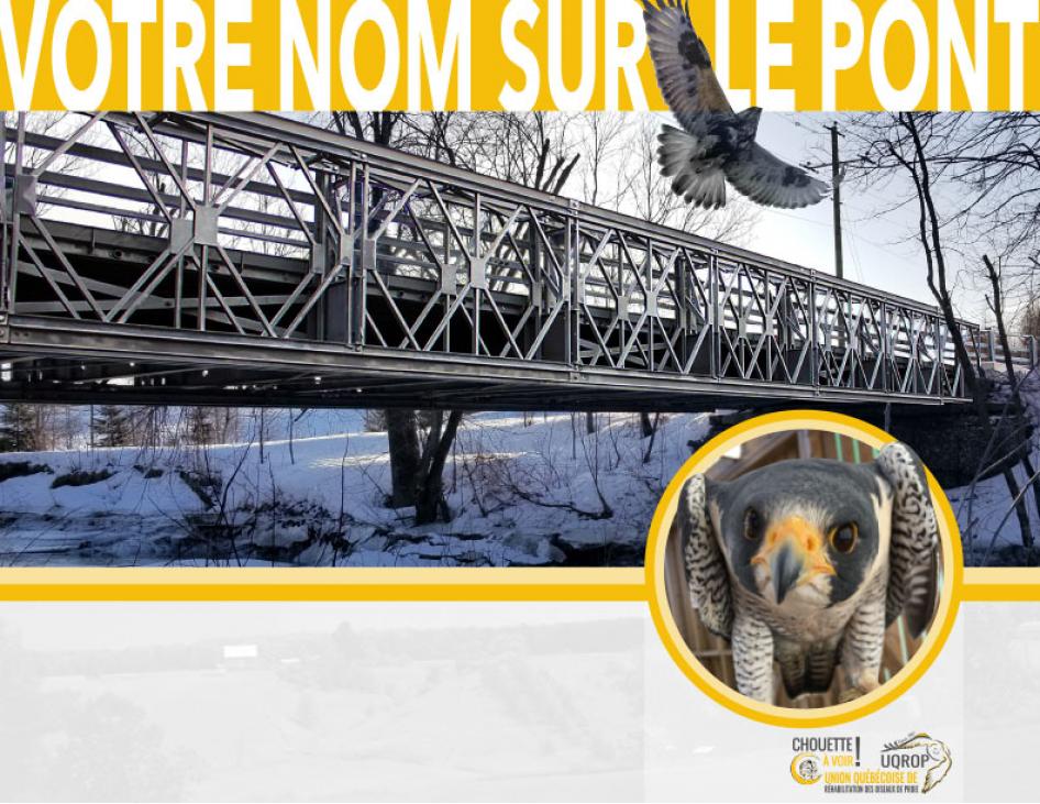 Campagne Votre nom sur le pont : Une pièce du pont Champlain d'origine à Chouette à voir!