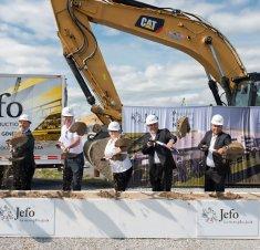 Investissement de 42,5 M$ - Première pelletée de terre pour la nouvelle usine Jefo