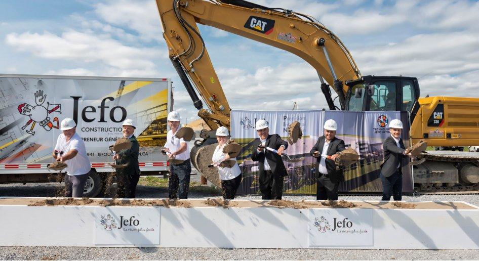 Investissement de 42,5 M$ – Première pelletée de terre pour la nouvelle usine Jefo