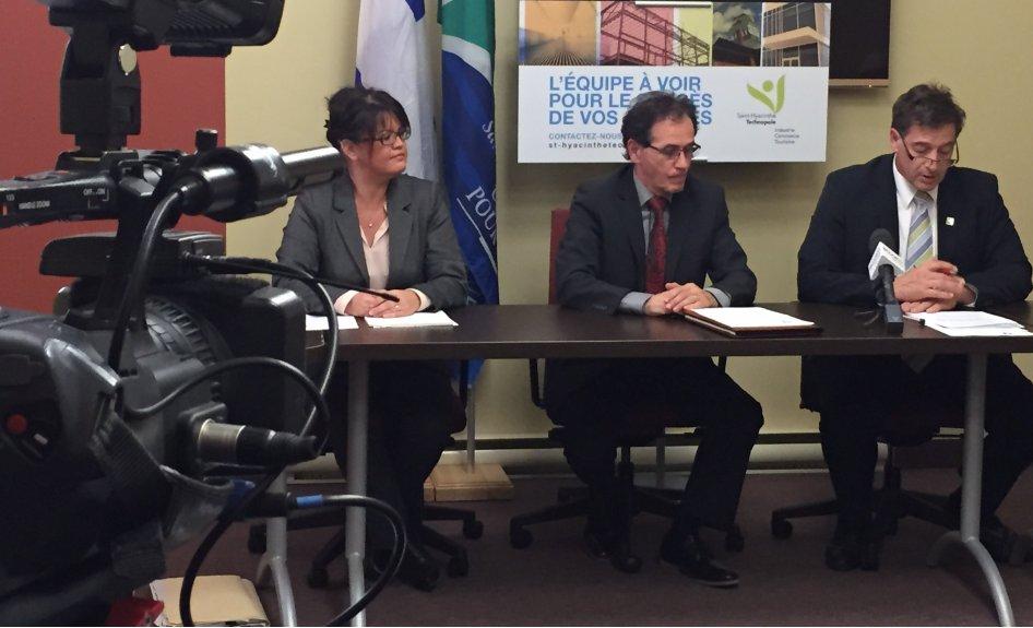 Le conseil d'administration de Saint-Hyacinthe Technopole appuie unanimement le projet de la ville