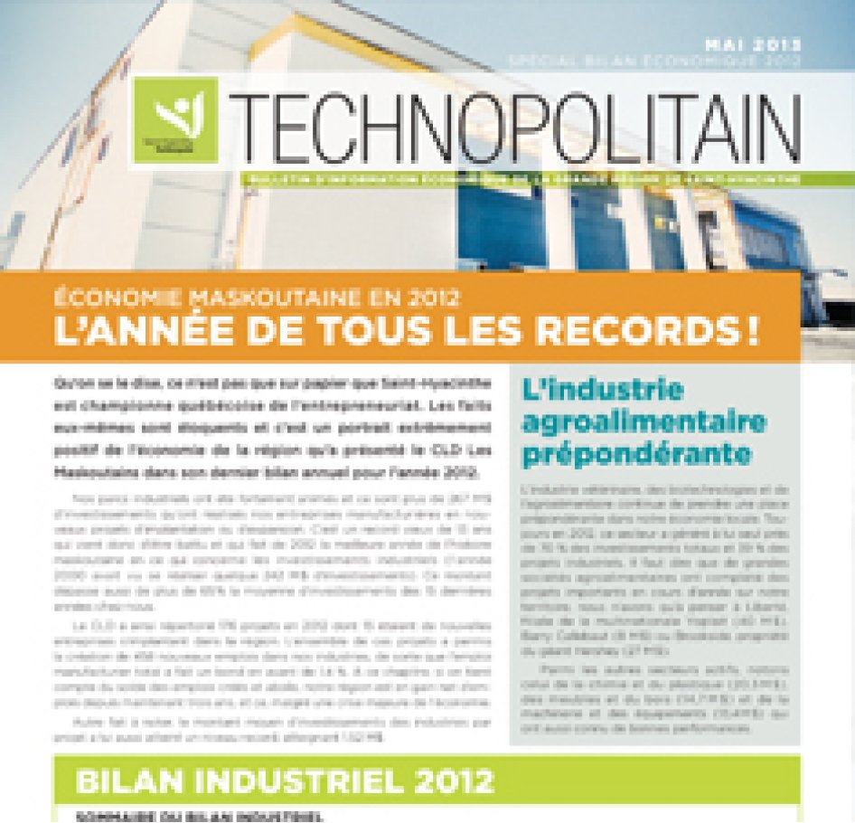 Le Technopolitain – Mai 2013