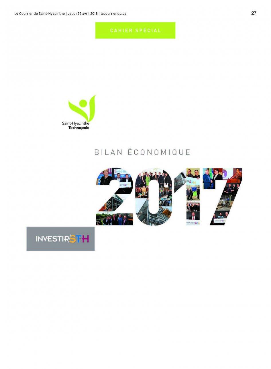 Cahier spécial Bilan économique 2017 – Le Courrier de Saint-Hyacinthe