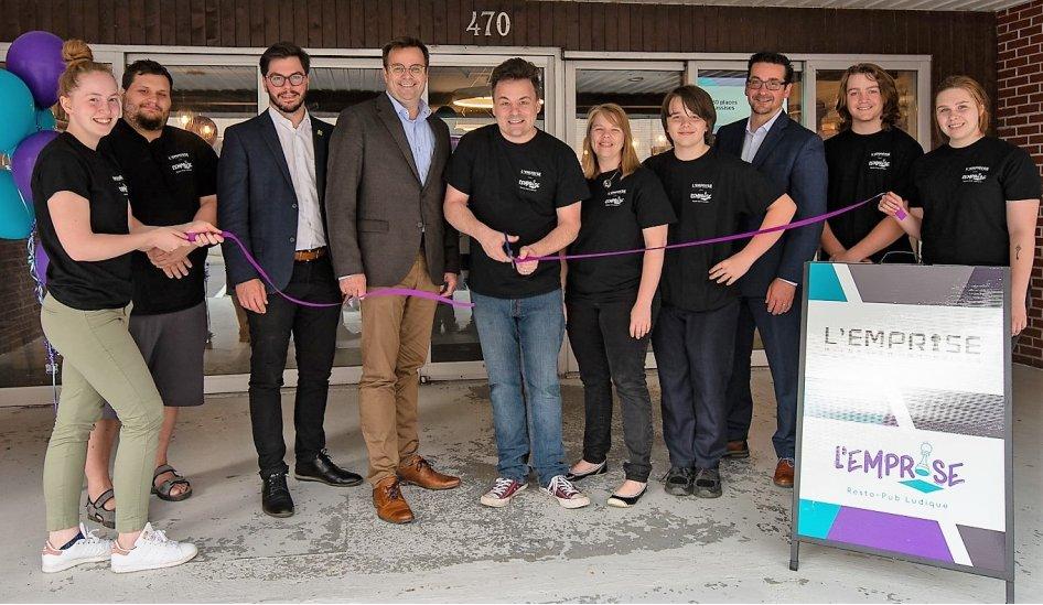 Inauguration de l'EMPRISE – Resto-pub ludique au centre-ville de Saint-Hyacinthe