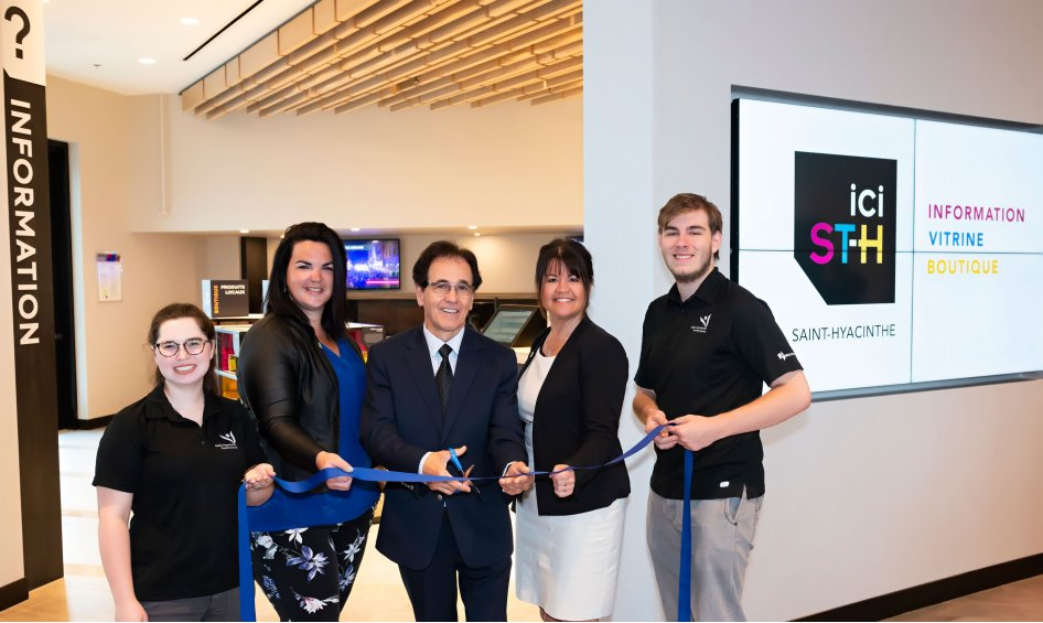 Saint-hyacinthe Technopole inaugurates its new tourist information office in the convention centre
